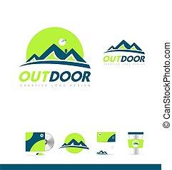 blue hegy, tervezés, jel, zöld, ikon