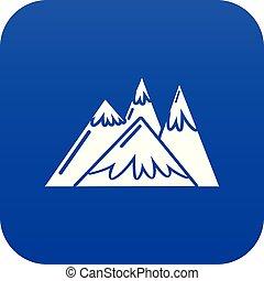 blue hegy, vektor, ikon