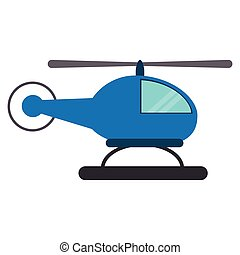 blue helicopter transport fly vector illustration eps 10