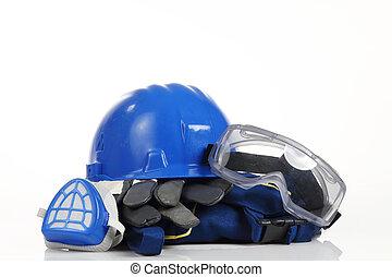 blue helmet safety equipment