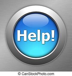 blue help button