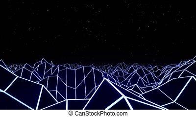 Blue hexadecimal big data digital code. Futuristic...