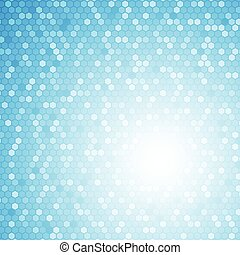 Blue hexagon abstract background concept