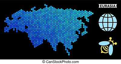 Blue Hexagon Eurasia Map - Blue Hexagon Eurasia map....