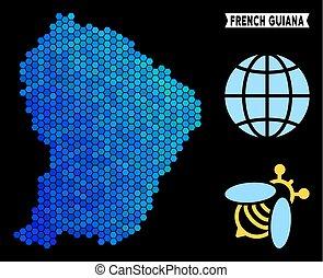 Blue Hexagon French Guiana Map