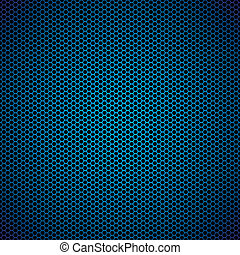 blue hexagon metal background - Abstract blue metal hexagon...
