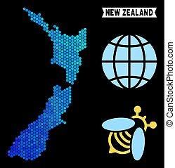 Blue Hexagon New Zealand Map