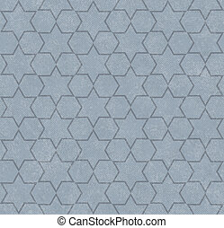 Blue Hexagon Patterned Textured Fabric Background