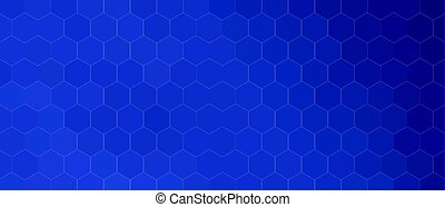 blue hexagonal background pattern in different shades shapes