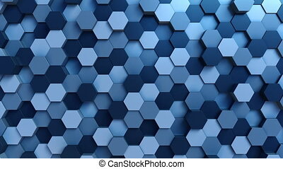 Blue hexagons - Abstract hexagonal motion background