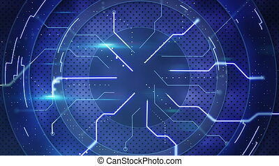 blue hi-tech abstraction. Computer generated seamless loop abstract motion background. HD 1080p