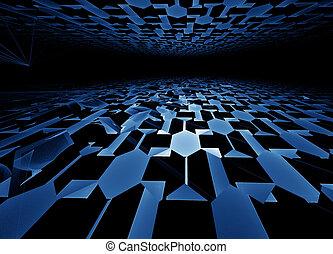 blue hi-tech horizon