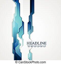 Blue hi-tech vector background