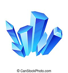 Blue high crystals. Vector illustration on a white background.