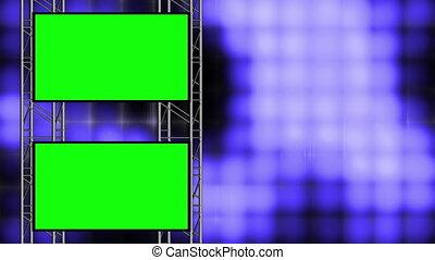 Blue High Tech Loop w Green Screen