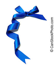 blue holiday bow