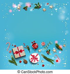 Blue holiday card