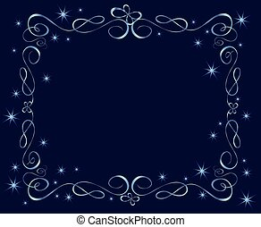 Blue holiday frame