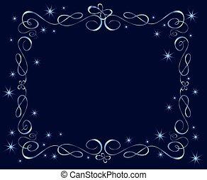 Blue holiday frame
