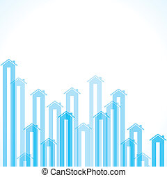 Blue home background - Colorful home background stock vector...