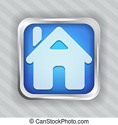 blue home button icon