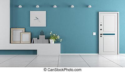 Blue home entrance
