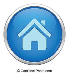 Blue home icon