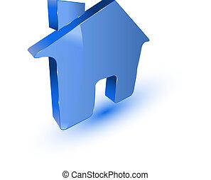 Blue home symbol