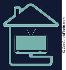 blue home tv symbol