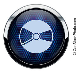 Blue honeycomb cd icon.