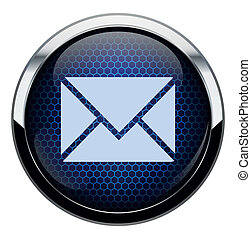Blue honeycomb mail icon.