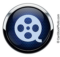 Blue honeycomb movie icon.