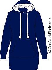 Blue hoodie vector