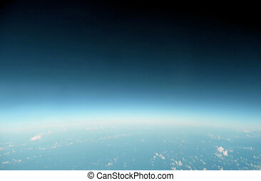 blue horizon - earth horizon from the edge of space