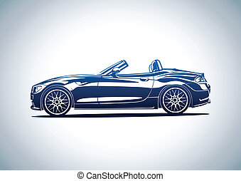 Blue hot sport car