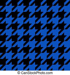 Blue Houndstooth Pattern