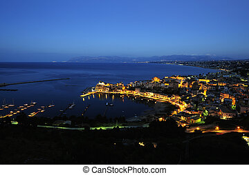 Blue hour at Castellammare del golfo, Sicily