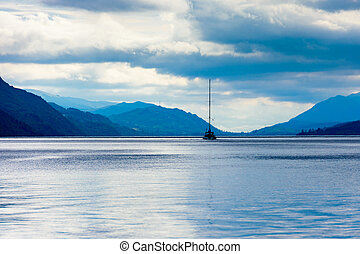 Blue Hour on Loch Ness, Scotland - Blue hour on the...