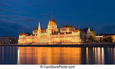 Blue hour shot of Hungarian parliamen