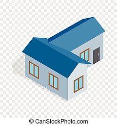 Blue house isometric icon