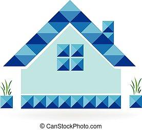 Blue house logo