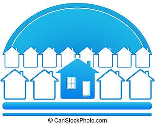 blue house symbol