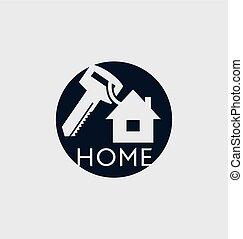 Blue House with key