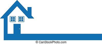 Blue House/Real Estate Logo Design