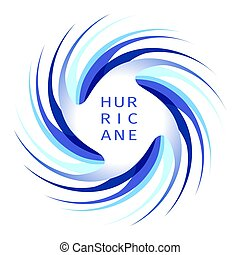 Blue hurricane logo