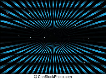Blue hyper space jump rays