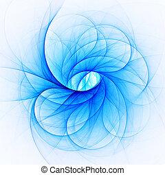 blue ice freeze rays on white background