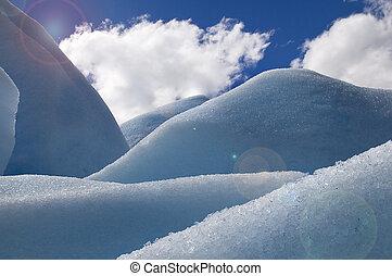 blue ice - photo was taken on the glacier Perito Moreno.