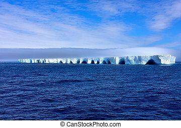 Blue Iceberg in Antarctica