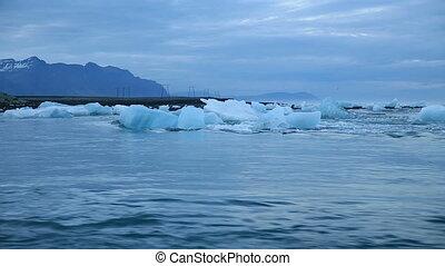 blue icebergs - Blue icebergs floating in Jokulsarlon...